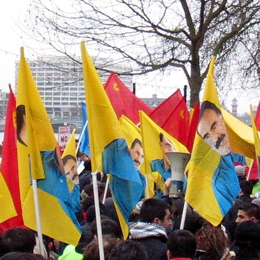 A pro-Ocalan protest in London in 2003. Source: Wikimedia
