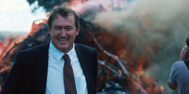 Richard Leakey at the 1989 (or 1991) ivory destruction.