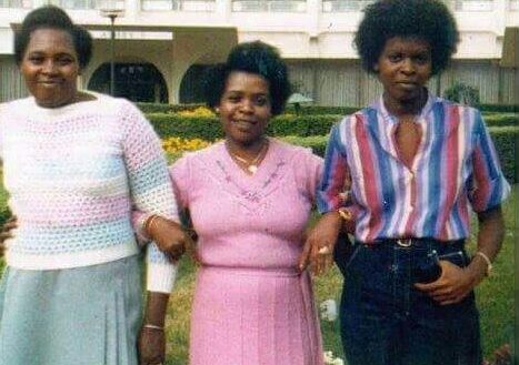 In this undated image, Mary Wambui with Lucy Kibaki and her daughter, Judy.