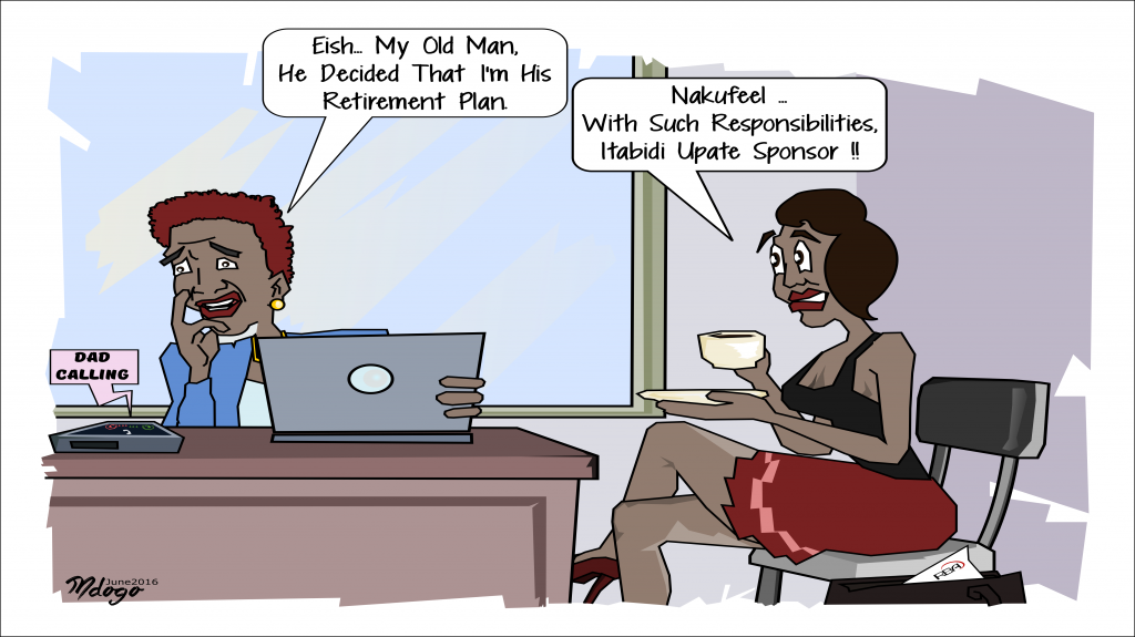 Be your own sponsor. Join the conversation on Twitter. Illustration by Bwana Mdogo.