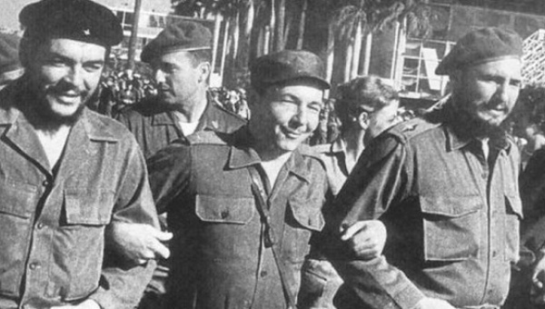 The Castros and Che Guevara. As Minister for Defense, Raul was Fidel's emissary to several African revolutionary groups.